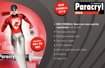 Paracryl Deco new formula: paintable wet on wet!